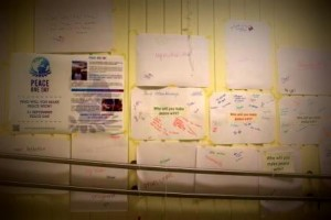 the wall of peace at NEO