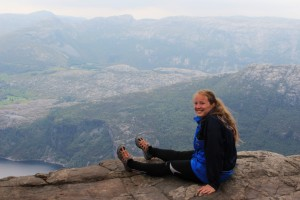 very happy on top of the preikestolen