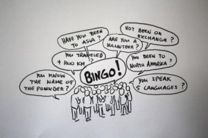 Getting to now each other - BINGO style